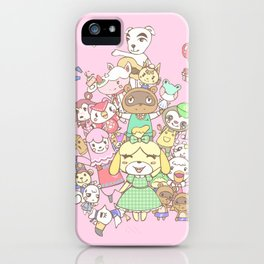 Animal Crossing (pink) iPhone Case