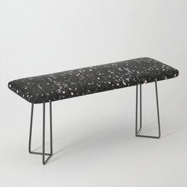 Black and white shiny glitter sparkles Bench