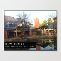 new jersey Canvas Prints featuring New Jersey  by Parastar Arts