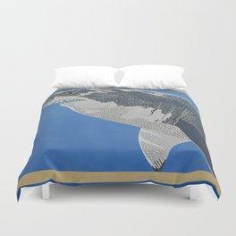 Fool Like You For Breakfast- Great White Shark Duvet Cover