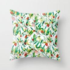 Orange Blossoms Throw Pillow