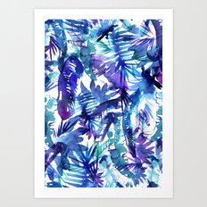 Vibe of the JUNGLE  {B-Blue} Art Print