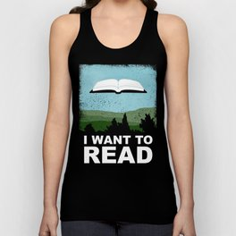 I Want to Read Unisex Tank Top