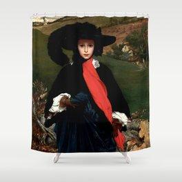 "Frederic Leighton ""Portrait of May Sartoris"" Shower Curtain"