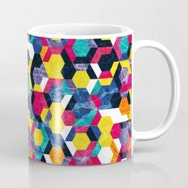 Colorful Half Hexagons Pattern #06 Coffee Mug