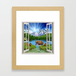 Window to the Great Bear Wilderness Framed Art Print