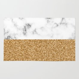 dip-dyed marble – yellow gold Rug