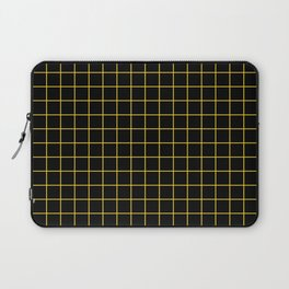 Grid Pattern - yellow and black - more colors Laptop Sleeve