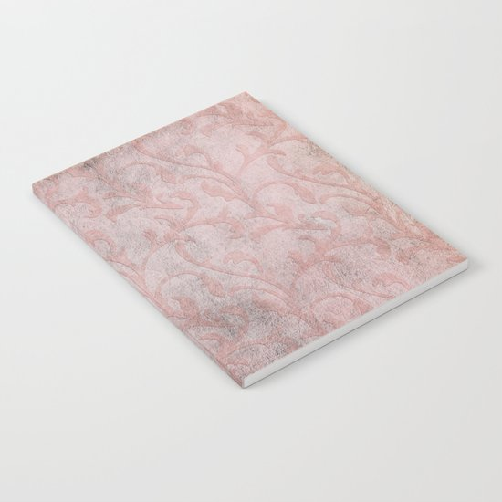 Dirty princess - Elegant Damask pattern with grunge effect Notebook