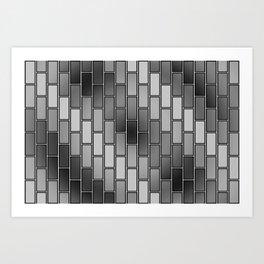 BRICK WALL #2 (Grays) Art Print