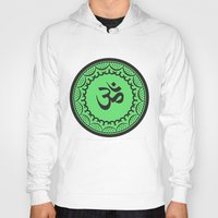 islam Hoodies featuring Black And Green Islam Religious Symbol by ArtOnWear