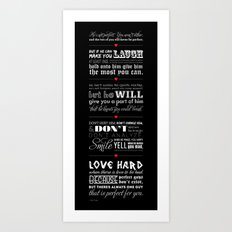 Typographic Quote Art Print