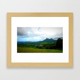 oahu green Framed Art Print