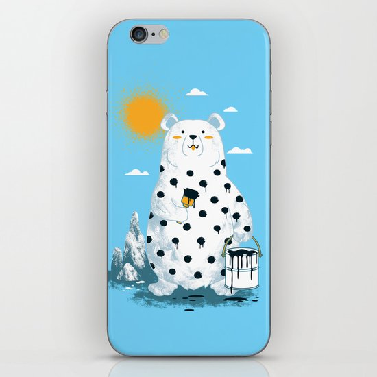 polka bear iPhone & iPod Skin