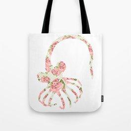 Floral Facehugger Tote Bag