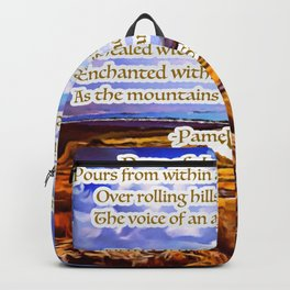 Dove of the Milk & Honey Poem Backpack