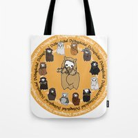 fili Tote Bags featuring Dwarpacas(Fili) by Lady Cibia