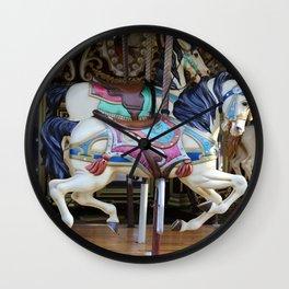 Vintage Carousel Horse galloping II Wall Clock