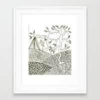 camping Framed Art Prints featuring Camping by NazreenNizamRao
