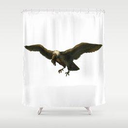 Vintage Vulture Shower Curtain