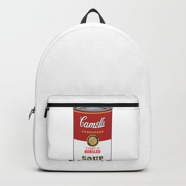 Camell's Soup CREAM OF BOBSLED Pop Art Backpack
