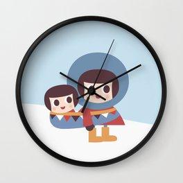 Ekymo and Baby Wall Clock