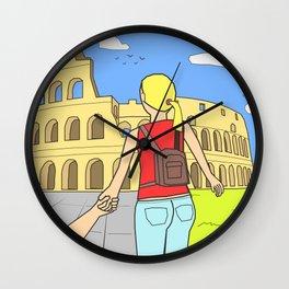 Follow me to Rome Wall Clock