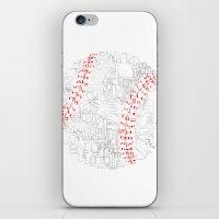 baseball iPhone & iPod Skins featuring Baseball by Vicki Golden