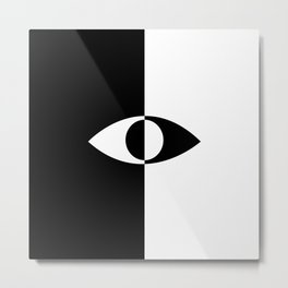 Eye - in a black has a white And in a white has a black Metal Print