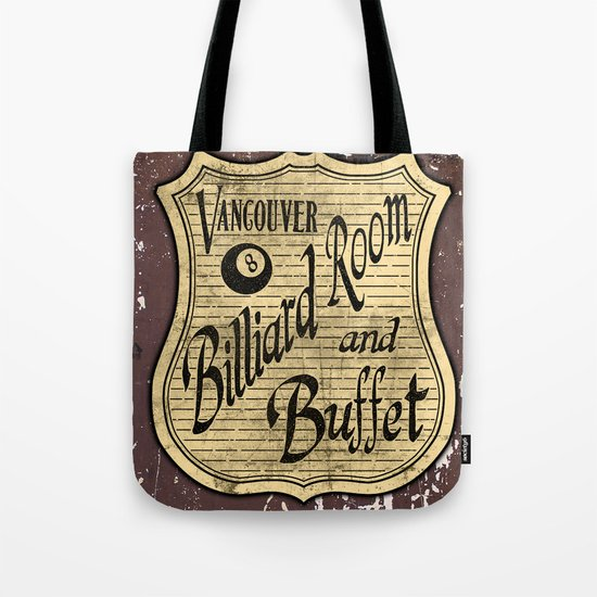 Vintage Vancouver Billiard Sign Tote Bag