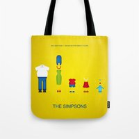 simpsons Tote Bags featuring Simpsons by Jana Costa