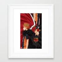 haikyuu Framed Art Prints featuring HAIKYUU!! - KINGS by zero0810