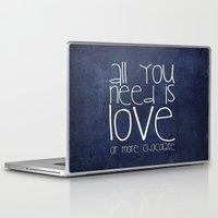 chocolate Laptop & iPad Skins featuring CHOCOLATE by Monika Strigel