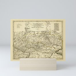 Map of Ukraine by G. Sanson (1674) Mini Art Print