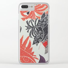 Coral Coastal Clear iPhone Case