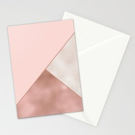Luxury Glamorous Rose Gold Metallic Glitter Stationery Cards