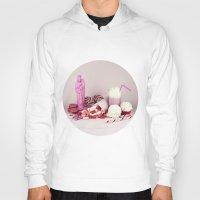 macaroon Hoodies featuring Sweet pink doom - still life by josemanuelerre