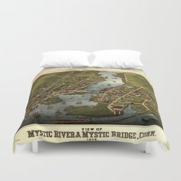 Map Of Mystic 1879 Duvet Cover