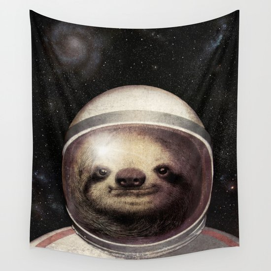 Space Sloth Wall Tapestry