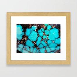 Macro Turquoise Framed Art Print