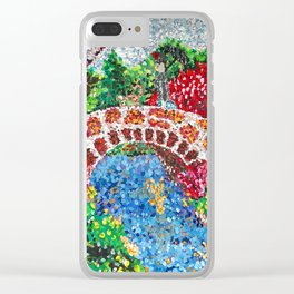 Pointalism Pond Clear iPhone Case
