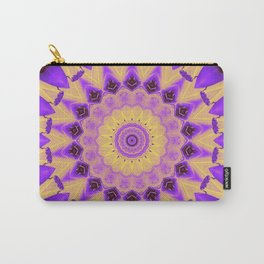 Bold Purple and Yellow Mandala Carry-All Pouch