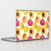 fruits Laptop & iPad Skins featuring Fruits by Alexandra Dzh