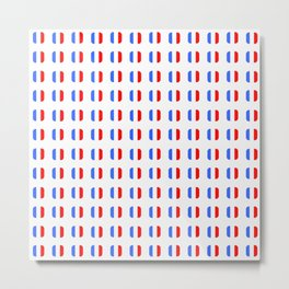 Flag of France - with soft square Metal Print