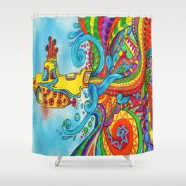 The Yellow Submarine Shower Curtain