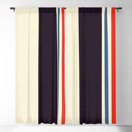 Classic Minimal Racing Car Retro Stripes - Furaribi Blackout Curtain