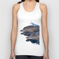 dolphins Tank Tops featuring Dolphins by Chloe Yzoard