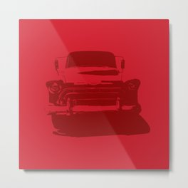 CHEVY PICKUP IN MONOCHROMATIC RED Metal Print