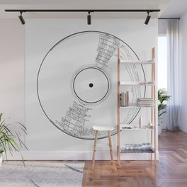 Record Label Sketch Wall Mural