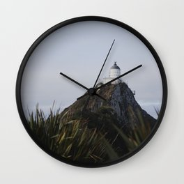 nugget point lighthouse Wall Clock
